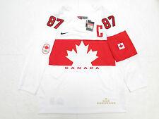 SIDNEY CROSBY TEAM CANADA WHITE SOCHI 2014 OLYMPICS NIKE HOCKEY JERSEY SZ LARGE