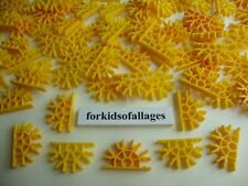 100 KNEX YELLOW CONNECTORS 5-Position Bulk Standard Replacement Parts/Pieces Lot