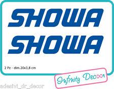 2 Adesivi SHOWA dim 20x3,8 cm per forcellone Honda CBR SUZUKI GSX KAWASAKI NINJA