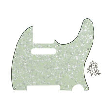 4Ply Mint Green Pearl Guitar Pickguard 8Holes & Screws For Fender Tele Guitar
