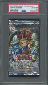 2002 Konami UD Yugioh Yu-Gi-Oh! Metal Raiders Foil Pack Gem Mint PSA 10