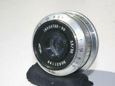 INDUSTAR-50 lens 50mm f/3.5 for FED, Leica M39 KMZ Silver