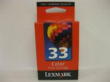 Lexmark #33 Color Ink Cartridges GENUINE NEW Sealed Box     18C0033