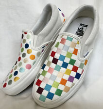 Vans Classics Shoes Damien Hirst White Multi Squares/ Dot New Ladies Size 7.5
