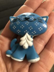 Vintage Cat Avon Pin Pal Brooch Fragrance Glace Perfume Holder Used