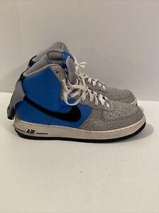 "Men's Nike Air Force 1 High Blue ""Court Crackle"" Sz 11"