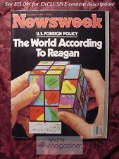 NEWSWEEK November 9 1981 11/9/81 Nov 81 REAGAN HUNGARY RICHARD SIMMONS