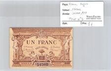 FRANCE - BILLET DE NÉCESSITÉ - ANGERS - 1 FRANC - JUILLET 1915