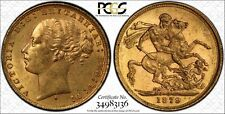 1879S St. George Reverse Sovereign in PCGS MS62