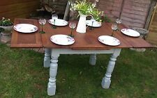 Vintage ERCOL extending dinning table oak Painted F&B grey