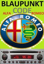 Unlock Pin Code provided ALFA ROMEO BLAUPUNKT Radio Stereo