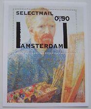 Stadspost Amsterdam 2006 - Blok Vincent van Gogh m. opdruk op Dordrecht postfris