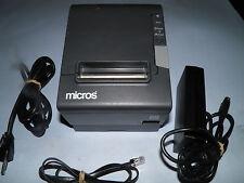 Micros Epson TM-T88V M244A Thermal POS Receipt Printer IDN w Power Supply Micros
