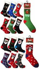 6 Men Ladies Thermal Insulated Sherpa Lined Novelty Gift Christmas Slipper Socks