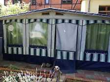 Feststehender Wohnwagen mit Vorzelt, kleiner Garten gebraucht