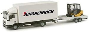 HER156936 - Camion porteur avec remorque et chariot élévateur JUNGHEINRICH -  -