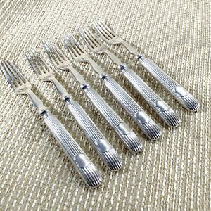 Antique Silver Plated Cutlery Forks Set Panel White Star Line Titanic Interest