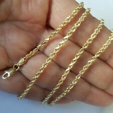 14k yellow gold rope chain 22 inches long 2 mm wide