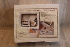 Loisir Créatif : Kit Vitrine Cadre Chambre de Nounours Fille De fil en aiguille