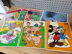 Frame Tray Puzzles & PlaySkool Wooden Puzzle Lot of 7  Puzzles Disney, Tunes, +