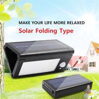 Pieghevole LED Energia Solare Sensore di Movimento Muro Luce da Esterno Giardino