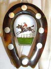 Equestrian Essex Crystal Brooch Pendant 925 Vincent Simone Horseshoe Good Luck