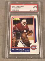 1986 O-PEE-CHEE #53 PATRICK ROY PSA NM 7 HOF RC ROOKIE CARD OPC