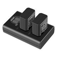 Neewer Set Cargador Batería Cámara NP-FW50 para Sony A6000 A6500 A6300 A7 A7SII
