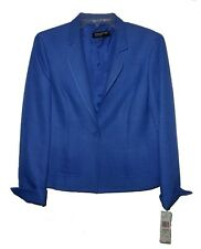 New Blazer Jones New York Belcanto Business Cotton-Silk Cobalt MSRP-$209.00 8