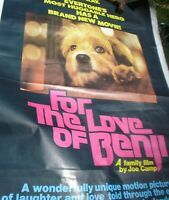 1 X  LARGE MOVIE POSTER FOR THE LOVE OF BENJI ROADSHOW MOVIES