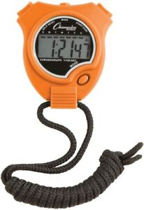 New Champion All Sports Walking Running Stopwatch Timer Daily Alarm Orange