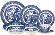 CHURCHILL BLUE WILLOW 42 PIECE DINNER / TEA SET - NEW/UNUSED