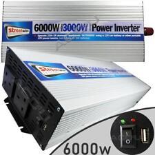 12v Car Battery to 230v Home Mains Socket USB 6000w Peak Power Inverter INV3000