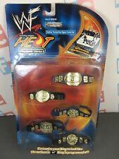 WWE WWF Wrestling Jakks Heat Ring Gear Series 2 Championship Title Belt Set