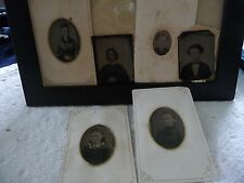 #531S antique vtg photo MIXED LOT of 6 different  SMALL TINTYPES