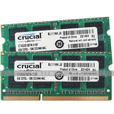 Crucial 8GB 2x4GB 1066MHz PC3-8500 DDR3 SDRAM Memory Macbook Pro iMac Mac Mini