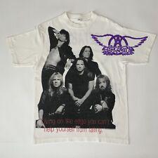 Vintage 1994 Aerosmith Get a Grip World Tour Tee Shirt All Over Print Giant L