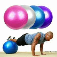 65CM Exercise Workout Yoga Ball for Yoga Fitness w/ Pump - BLUE