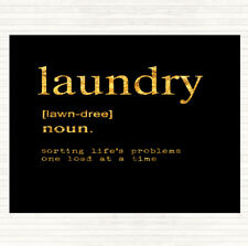 Black Gold Word Definition Laundry Quote Dinner Table Placemat