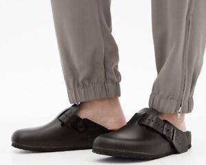 Rick Owens Birkenstock black leather Boston mules 40 N