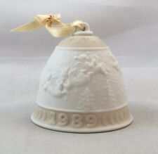 Spain Made Lladro Christmas Ornament Bell 1989