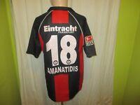 """Eintracht Frankfurt Jako Trikot 2006/07 """"FRAPORT"""" + Nr.18 Amanatidis Gr.M/L"""
