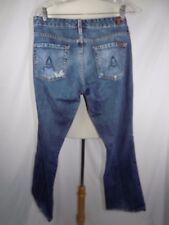 Seven 7 For All Mankind Women's Distress Jeans Long A Pocket Size 30 USA 34 x 30
