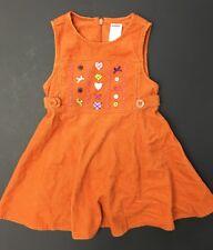 NWOT GYMBOREE MIX N MATCH ARGYLE HEART JUMPER DRESS 3T CORDUROY ORANGE FALL LINE