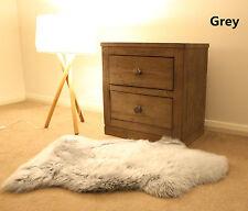 Grey 100CM Genuine Australian Sheepskin Lambskin Rug Pelt ECO-TAN SANITIZED