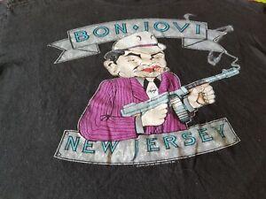 BON JOVI NEW JERSEY THE BROTHERHOOD ON TOUR 1989 VINTAGE TEE SHIRT XL