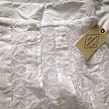 "ST John's Bay 37"" long Ladies White Lace/ Crinkled Skirt Size M - Fully Lined"