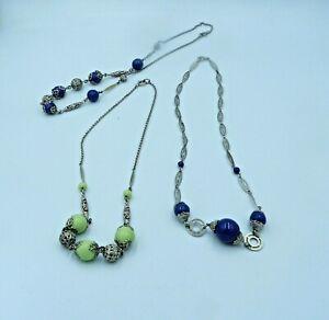 3 Jakob Bengel Deco Glass Necklaces