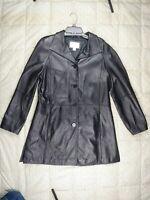 WORTHINGTON Womens Black SOFT GENUINE LAMBSKIN LEATHER Jacket Size LARGE