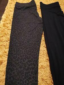 M&S Ladies leopard Leggings  Size 14